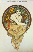 Vintage art deco poster - Illustrations de Mucha